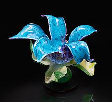 Sea Dream Flower by April Wagner (Art Glass Sculpture)