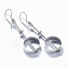 Rivet Earrings by Sarah Mann (Silver Earrings)