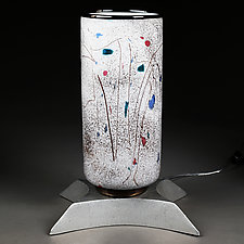 Zima Tsvety (Winter Flowers) Large Table Lamp by Eric Bladholm (Art Glass Table Lamp)
