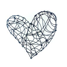 9 Wire Heart by Barbara Gilhooly (Metal Wall Sculpture)