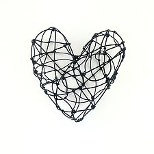 Small Love Line Heart by Barbara Gilhooly (Metal Wall Sculpture)