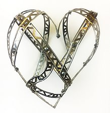 Small Love So Strong Heart by Barbara Gilhooly (Metal Wall Sculpture)