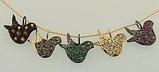 Birds by Mevesh Ozagar (Silver & Stone Necklace)