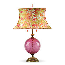 Sonya (rose) by Susan Kinzig and Caryn Kinzig (Mixed-Media Table Lamp)