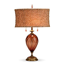 Linda by Susan Kinzig and Caryn Kinzig (Mixed-Media Table Lamp)