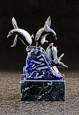 Penguin Slide by Paul Labrie (Art Glass Sculpture)