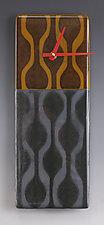 Wavy Wallpaper Clock by Nina  Cambron (Art Glass Clock)