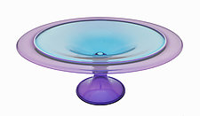 Amethyst and Turquoise Centerpiece Bowl by Minh Martin (Art Glass Bowl)