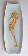 Seahorse Platter by Rod  Hemming (Ceramic Platter)
