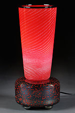 Crimson Champion by Eric Bladholm (Art Glass Table Lamp)