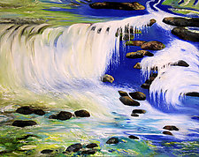 Following the Falls by Judy Hawkins (Oil Painting)