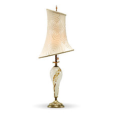 Mackenzie by Susan Kinzig and Caryn Kinzig (Mixed-Media Table Lamp)