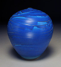 Blue Topography by Nicholas Bernard (Ceramic Vessel)