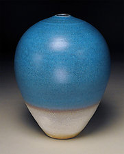 Stain Blue Vessel by Nicholas Bernard (Ceramic Vessel)