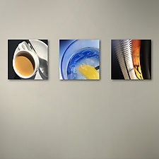 Espresso Lemonwater Coors Field Triptych by John Boak (Photograph on Aluminum)