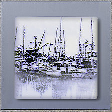 Boats - PCH (1004) by Doug Gillis (Art Glass Wall Sculpture)