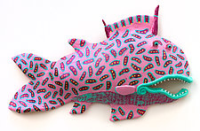 Big Mouth Easy Fish by Byron Williamson (Ceramic Wall Sculpture)