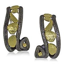 Whirlpool Earrings by Rona Fisher (Gold & Silver Earrings)