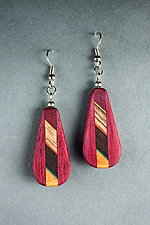 Banded Earrings by Martha Collins (Wood Earrings)