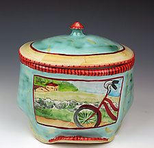 Bicycle Box by Peggy Crago (Ceramic Box)