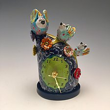 Family Gathering by Lilia Venier (Ceramic Clock)