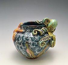 Octopus Vase by Lilia Venier (Ceramic Vase)