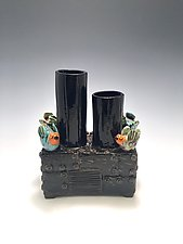 Taking a Break by Lilia Venier (Ceramic Vase)