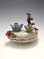 Under the Cherry Tree by Lilia Venier (Ceramic Vessel)