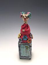 Lady in Red by Lilia Venier (Ceramic Box)