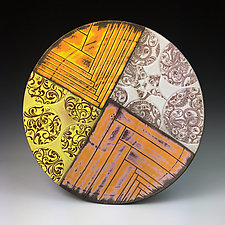 Mimbres Inspired Platter 1 by Thomas Harris (Ceramic Platter)