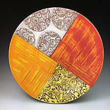 Mimbres Inspired Platter 2 by Thomas Harris (Ceramic Platter)