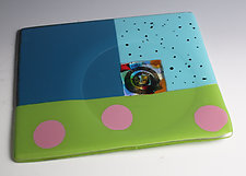 Fused Glass Tray with Recess by Nina  Cambron (Art Glass Tray)