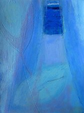Blue Curtain by Heidi Daub (Acrylic Painting)