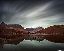 Clouds Over Glencoe by Matt Anderson (Color Photograph)