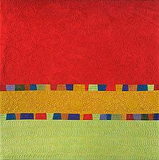 Sunset Hills by Cindy Grisdela (Fiber Wall Art)