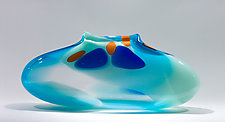 Sky Blue Purse by Bengt Hokanson and Trefny Dix (Art Glass Vase)
