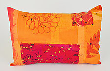 Hot Mod Bloom Pillow by Ayn Hanna (Cotton & Linen Pillow)