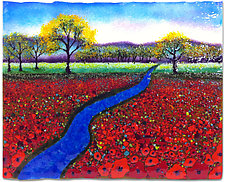 Watercolor Morning by Anne Nye (Art Glass Wall Sculpture)