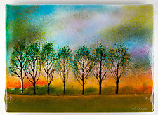 Misty Sunrise by Anne Nye (Art Glass Wall Sculpture)