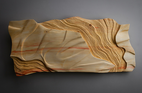 Wave scape by aaron laux wood wall sculpture artful home