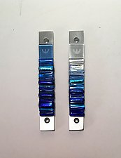 Cool Two-Toned Mezuzah by Alicia Kelemen (Art Glass Mezuzah)