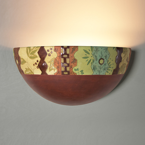 Ceramic Wall Sconce in Artist Cabin Red