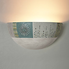 Ceramic Wall Sconce in Modern Meadow by Janna Ugone and Justin Thomas (Ceramic Sconce)