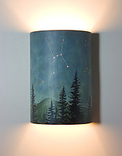 Midnight Sky Ceramic Wall Sconce by Janna Ugone (Ceramic Sconce)