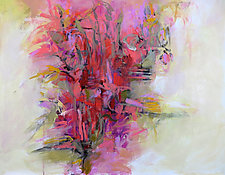 Floral Abstraction II by Debora  Stewart (Oil Painting)