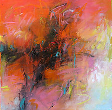 Red Abstraction II by Debora  Stewart (Oil Painting)