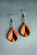 Alternate Leaf Earrings by Martha Collins (Wood Earrings)