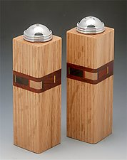 Bold Mosaic Salt and Peppers shaker sets by Martha Collins (Wood Salt & Pepper Shakers)