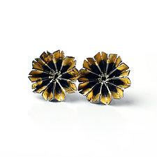 Blossom Earrings 2 by Sophia Hu (Gold & Silver Earrings)