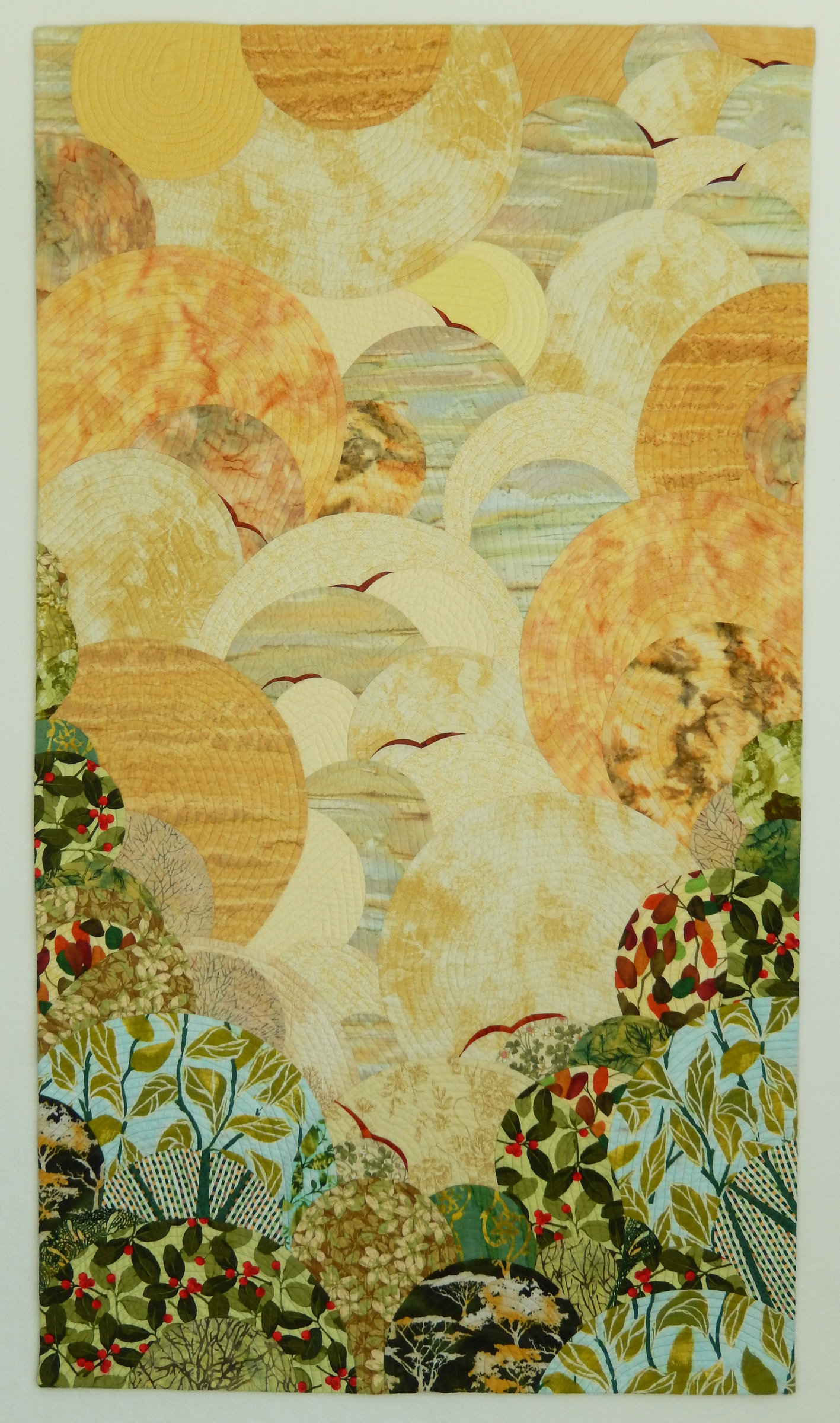 The Beginning of the Journey by Linda Beach (Fiber Wall Hanging ...